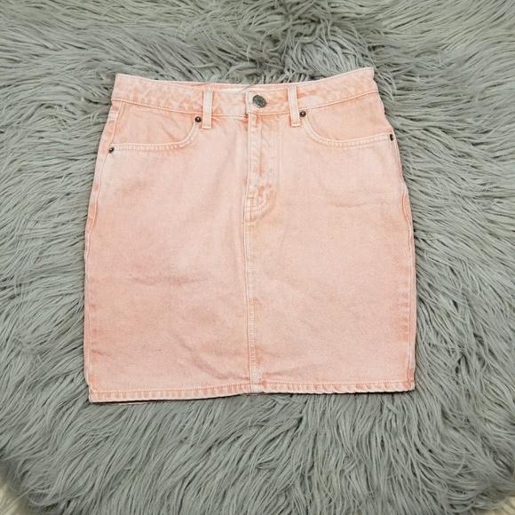 d715987cdd Urban Outfitters Skirts | Bdg Peach Denim Skirt | Poshmark